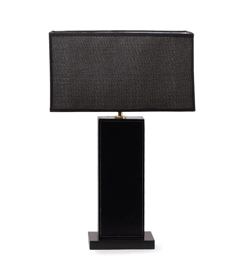 Black rectangle table lamp with black rectangle shade table lamp more views mozeypictures Choice Image