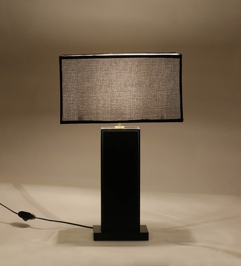 Black rectangle table lamp with black rectangle shade table lamp more views aloadofball Choice Image