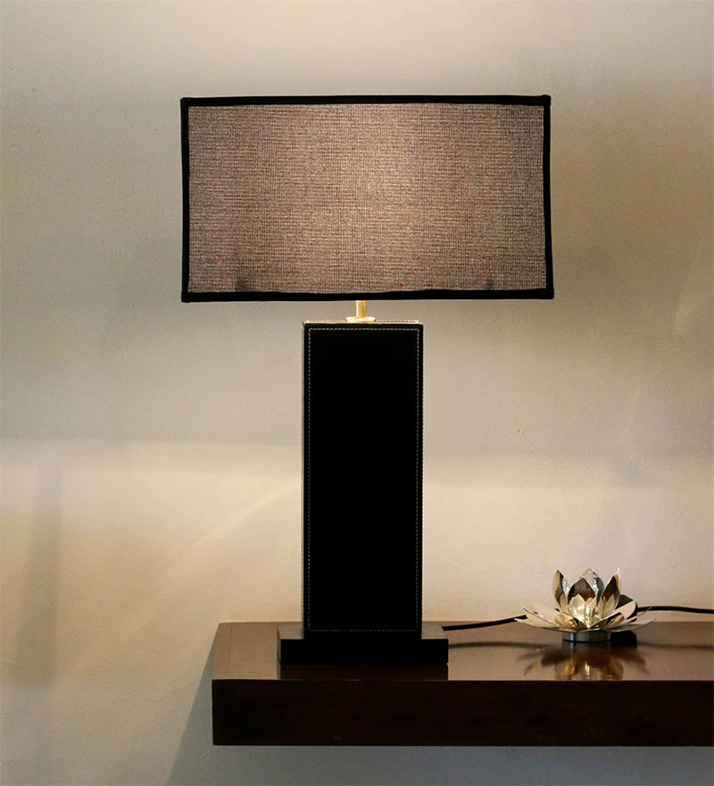 Black Rectangle Table Lamp With